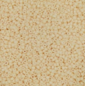 Dark Cream Matte Opaque Miyuki Japanese round rocailles glass seed beads 11/0 Approximately 24 gramme 13cm tube
