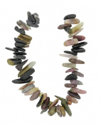 Tennessee Crafts 1578 Semi Precious Multi Multi Tourmaline Beads, Large