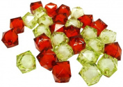 Fiona Acrylic Faceted Square Shape Transparent Beads, 12mm, Christmas