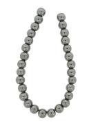 Tennessee Crafts 1156 Semi Precious Gunmetal Hematite Beads, Round, 8mm