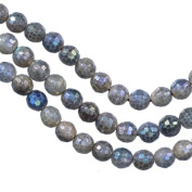 "Labradorite Faceted Round Beads Medium ~6mm 15.5"" Strand"