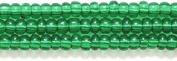 Preciosa Ornela Czech Seed Bead, Transparent Christmas Green, Size 10/0