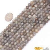 6mm Round Faceted Gemstone Labradorite Beads Strand 38cm Jewellery Making Beads