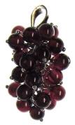 Bead Collection 41357 Sterling Silver Garnet Vine Pendant Bead, 4mm