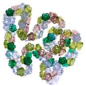 Beadaholique Czech Glass Flower Drops 100-Piece Bead, 7mm, Lavender Garden Colour Mix