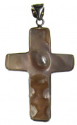 Bead Collection 41352 Shell Cross with White Pearl Pendant