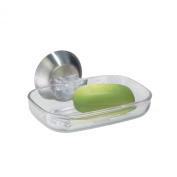 InterDesign Forma Power Lock, Soap Dish, Clear
