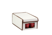 Honey-Can-Do SFT-02064 Natural Canvas Soft Shoe Box, Small Window 13x8