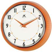 Infinity Instruments Orange Retro 24cm Metal Wall Clock
