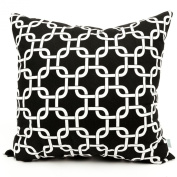 Majestic Home Goods Black Links Pillow, Large