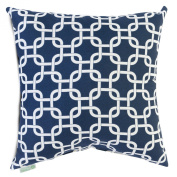 Majestic Home Goods Navy Blue Links Pillow, Large