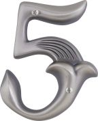 Atlas Homewares AN5-P 13cm Alhambra House Number-5, Pewter