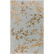 Surya Tamira TAM-1000 Transitional Hand Tufted 100% Wool / Viscose Dove Grey 1.5m x 2.4m Floral Area Rug