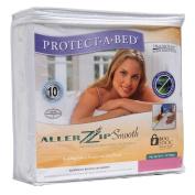 AllerZip Smooth Waterproof Bed Bug Proof Zippered Bedding Encasement, Queen,