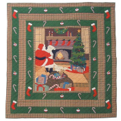 Patch Magic Queen Santa By The Fireside Quilt, 220cm by 240cm