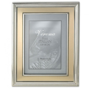 Lawrence Frames 10cm by 15cm Silver Plated Metal Picture Frame, Brushed Gold Inner Panel