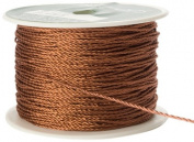May Arts 2mm Wide Ribbon, Metallic Copper Cord