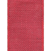 Offray Wired Edge Burlap Craft Ribbon, 6.4cm Wide by 25-Yard Spool, Red