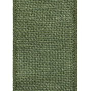 Offray Wired Edge Burlap Craft Ribbon, 6.4cm Wide by 25-Yard Spool, Moss