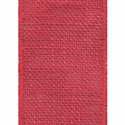 Offray Wired Edge Burlap Craft Ribbon, 10cm Wide by 10-Yard Spool, Red