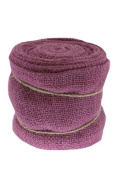 Renaissance 2000 Ribbon, 15cm , Purple Burlap with Wire