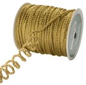 May Arts 2mm Wide Ribbon, Metallic Gold Cord