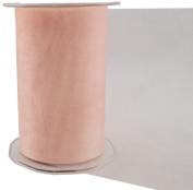 May Arts 13cm Wide Ribbon, Peach Sheer