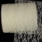 Creamy Designer Lace Craft Ribbon 15cm x 55 Yards