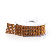 Koyal Rhinestone Ribbon with Stones, Champagne