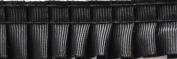 Pleated Trim Gathered Pleated Grosgrain Ribbon Roll, Black, 25-Yard