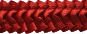 Pleated Trim Ruffeled Pleated Grosgrain Ribbon Roll, Red, 25-Yard