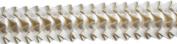 Pleated Trim Ruffeled Pleated Grosgrain Ribbon Roll, Cream, 25-Yard