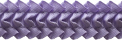 Pleated Trim Ruffeled Pleated Grosgrain Ribbon Roll, Orchid, 25-Yard