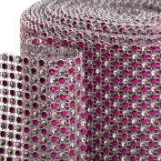 Koyal 2-Tone Diamond Rhinestone Ribbon Wrap, Fuchsia