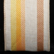 Colourful Striped Surprise Light Tan Wired Burlap Craft Ribbon 6.4cm x 20 Yards