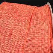 Orange Wired Fine Burlap Craft Ribbon 7.6cm x 40 Yards