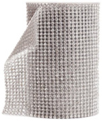 Koyal Silver Rhinestone Ribbon with Stones