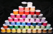 New Threadsrus 50 Spools of 100% Pure Silk Ribbons - 4mm x 10 Metres