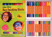 Face Painting Sticks 24 Colour Set -Long Lasting Twist up Crayon Style Sticks