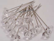 Crystal Diamante Corsage Pins pk/100
