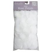 Fabric Rose Petals, White