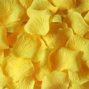 1000pcs Yellow Silk Rose Petals Artificial Flower Wedding Favour Bridal Shower Aisle Vase Decor Confetti