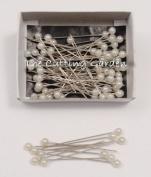 Lomey Pearl White Corsage / Boutonniere Pins 5.1cm pk/144