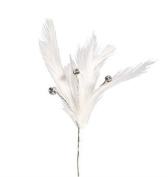 White Feather Crystal Accent - 3 pieces per pk