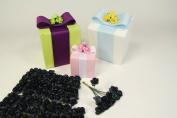 Black Small Mini Paper Rose Bud Flowers- 1.3cm X 144 Buds