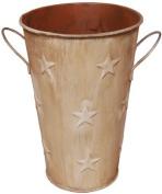 Country Rustic Primitive Cream 20cm Star Pail
