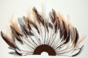 6 Pcs Half Pinwheels - BROWN/BEIGE MIX