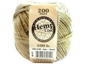 Darice Hemp Cord Ball Natural Waxed 100# 200ft