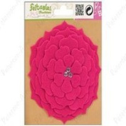 Feltables Fashion Pink Flower w/3 Crystal Jewels in Centre [Misc.]