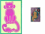 Ecstasy Crafts Pink Stencils - Cat & Mouse